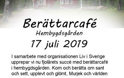Berättarcafé 17 juli 2019